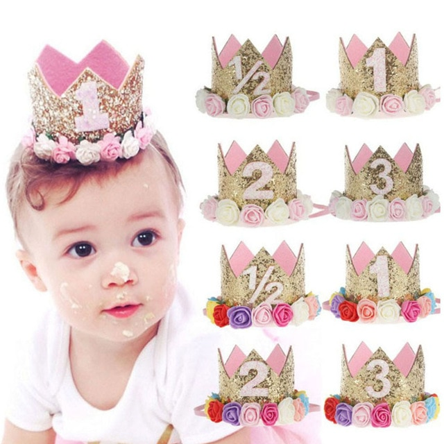 Crown Shaped 1-3 Years Old Kids Birthday Party Hats