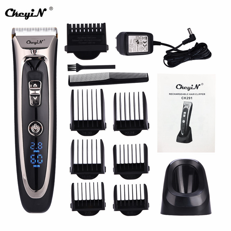 Professional Rechargeable Hair Clipper with Digital Display