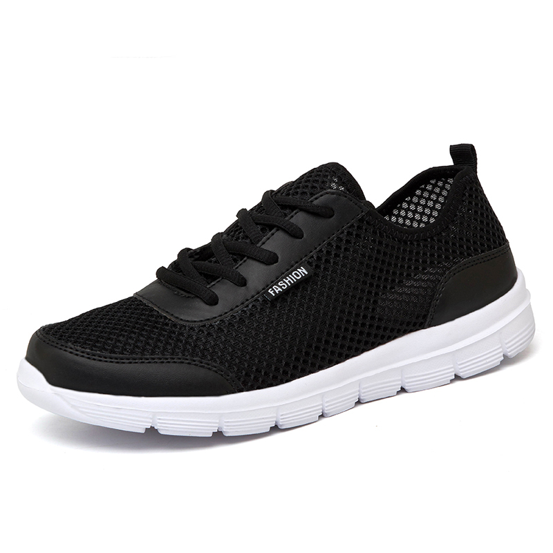 Men's Cool Lace-up Breathable Mesh Flat Shoes