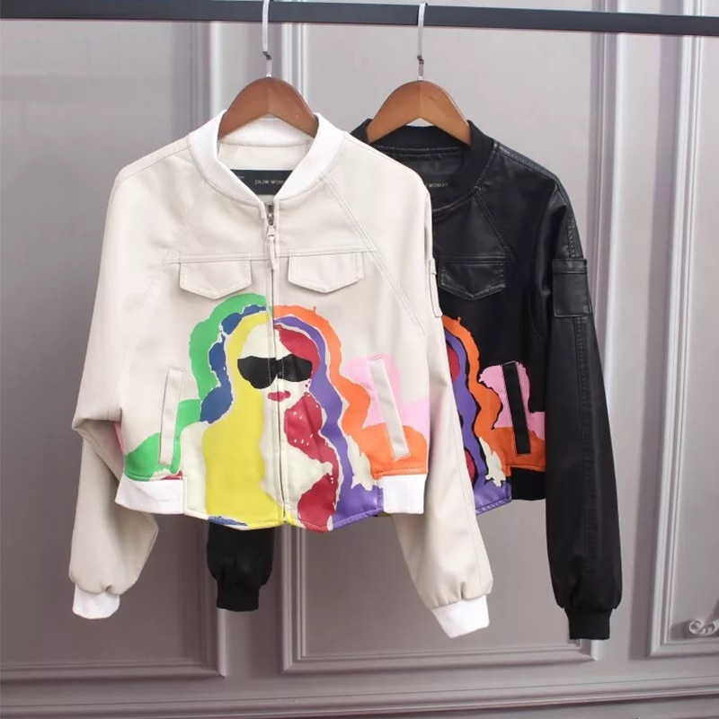 Women's Awesome Printed Zipper Jacket